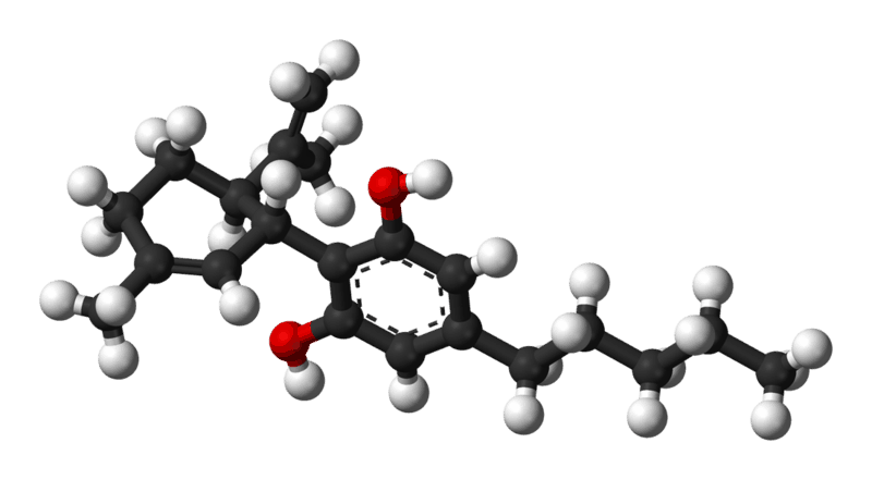 CBD molecule in 3D.